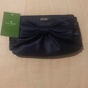 Kate Spade French Navy Bow Pouch NWT